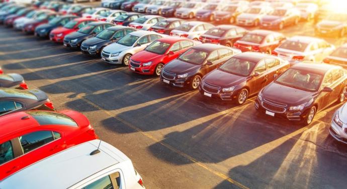 Novated Car lease - cars in a yard